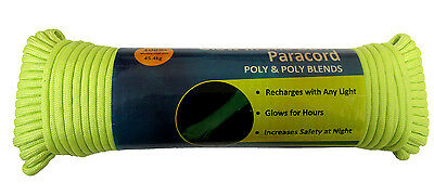 PARACORD 7 STRAND REFLECTIVE or GLOW IN DARK 25/50/100FT camping survival bush
