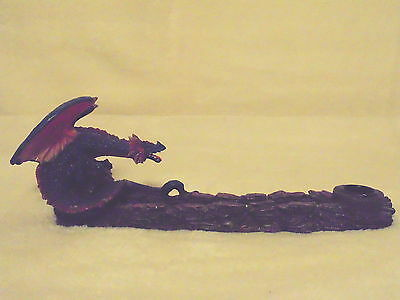 Dragon Incense Burner Holder Blue Colorful Stick or Cone Resin