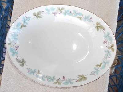 "MS Fine China of Japan Vintage 10"" Oval Vegetable Bowl 6701"