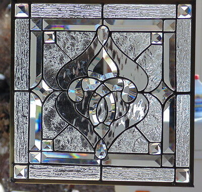 Stained Glass Window Hanging 14 7/8 X 14 7/8""