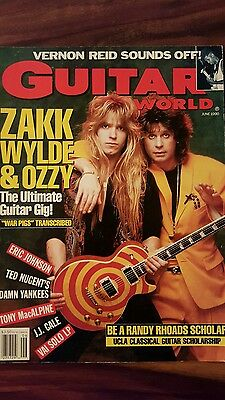 Guitar world june 1990 - Ozzy & Zakk Wylde