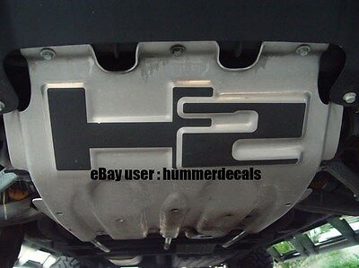 Hummer H2 Skid Plate Decals 03 04 05 06 07 08 09 AND SUT