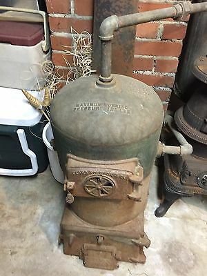 Antique Sears Roebuck & Co  Cast Iron Pot Belly Stove