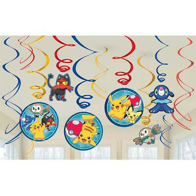 Pokemon Pikachu & Friends Value Pack Swirl Decorations Birthday Party Supplies