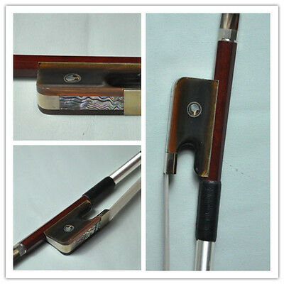 Good 4/4 French Pernambuco Double Bass Bow horn Frog high quality 131