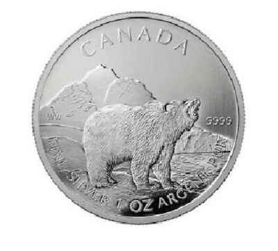 Silber Grizzly 2011 1 OZ Unze Ounce Once Wildlife Silver Argent Kanada Canada