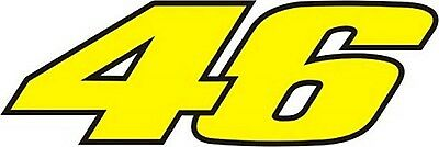 New Valentino Rossi Yellow 46 Sticky Back Decal