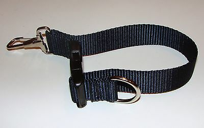 Sav-A-Jake Firefighter Glove Strap - Quick Release Clip - Navy Blue