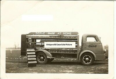 coca-cola print 1930-1940 truck with man