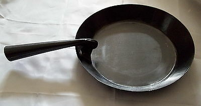 "Re-Enactor's Iron Skillet With Folding Handle - Camping - Mountain Man - ""NEW"""