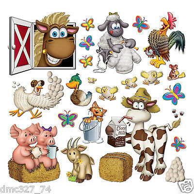 Barnyard Farm Animal Props 40 Party Decorations 5 50
