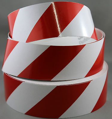 3M Red/White Class 2 (3200 Series) Reflective Tape 50mm x 45.7m RIGHT
