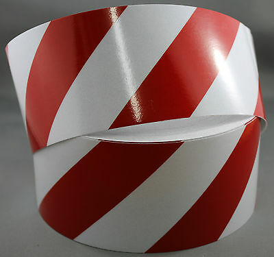 3M Red/White Class 2 (3200 Series) Reflective Tape 75mm x 5m RIGHT