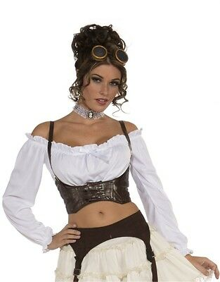 Womens Pirate or Steampunk Costume Brown Costume Corset Belt