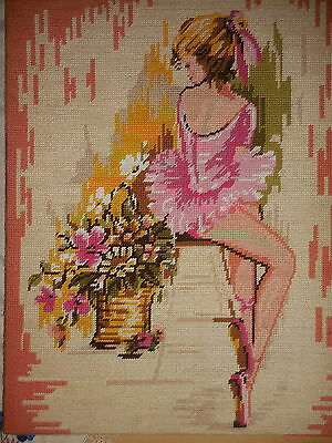 Tapestry Picture Etoile Paris Ballerine Ballerina Completed Vintage