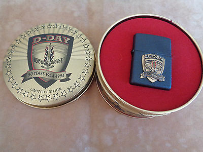 Zippo Lighter Collection D Day Normandy 50 Years 1944-1994 New Rare 53236Dd