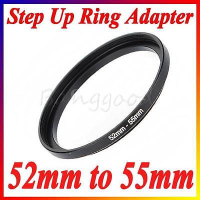 52mm-55mm 52-55mm 52 to 55 Metal Step Up Lens Filter Ring Stepping Adapter UK