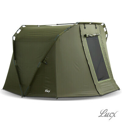 "Lucx® Angelzelt Karpfenzelt 1 - 2 Man Bivvy Carp Dome Fishing Tent ""Caracal"""