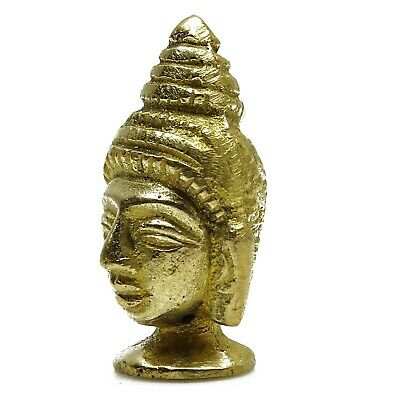Decorative Antique Brass Gautam Buddha Figurine Sculpture Handmade Garden Decor