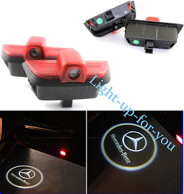 2 x LED Car Door Logo Light  For Benz C Class Ghost Shadow Courtesy Welcome Lamp