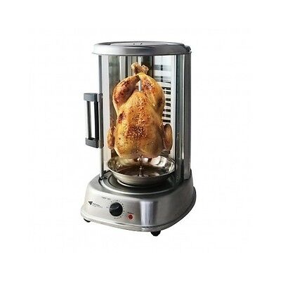 Rotisserie Mini Oven Electric Chicken Spit Roast Kebab BBQ Grill Stainless Steel
