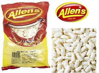 ALLENS MILK BOTTLES 1.3kg LOLLIES BULK PARTY FAVOR SWEETS CANDY BUFFET LOLLY BAG