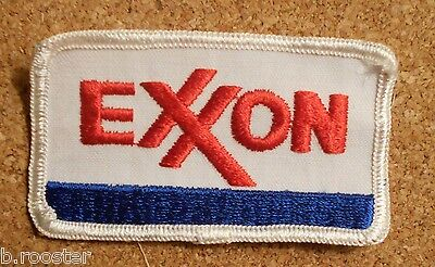 Exxon Gasoline Patch Embroidered Oil 3-1/2 inches Original Vintage