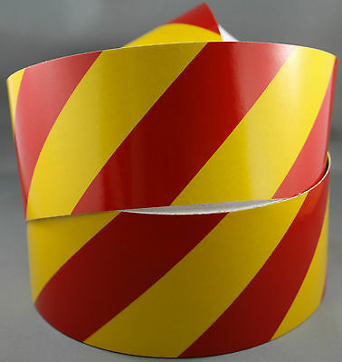 3M Yellow/Red Class 2 (3200 Series) Reflective Tape 75mm x 10m RIGHT