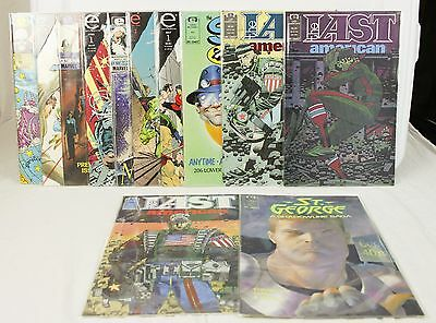 Lot of 12 Comic Books The Last American Sleeze Brothers Dragon Lines Feud Girls