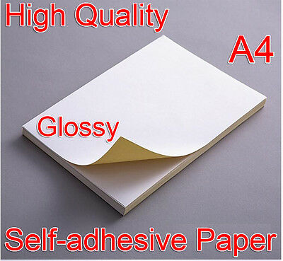 High Quality 21x29cm A4 White Glossy Self-adhesive Sticker Paper Laser Printer