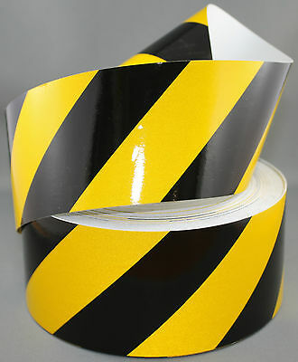 3M Yellow/Black Class 2 (3200 Series) Reflective Tape 75mm x 5m RIGHT