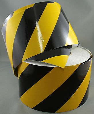 3M Yellow/Black Class 2 (3200 Series) Reflective Tape 100mm x 15m RIGHT