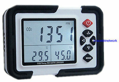 HT2000 Professional CO2 Gas Detector Carbon Dioxide Detector With Humiture