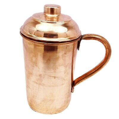 Traditional Indian Copper Jug Kitchenware Serveware Pitcher 1.2 Litre Vessel