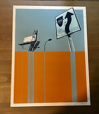 Shepard Fairey Obey 2005 STAY UP Signed Numbered Screen Print RARE banksy kaws