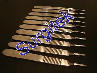 SURGICAL SCALPEL / SCALPLE HANDLE SIZE 3 - SIGN MAKERS CRAFTS x 10 PIECES STEEL