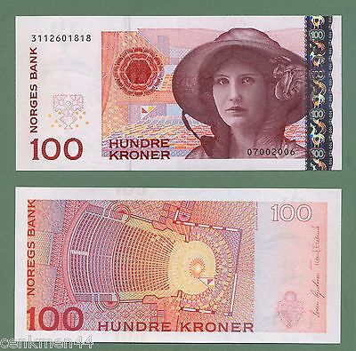 NORWAY NORWEGEN 100 Kroner Pick # 49 UNC