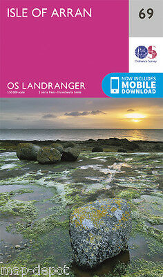 ISLE OF ARRAN LANDRANGER MAP 69 - Ordnance Survey - OS - NEW 2016