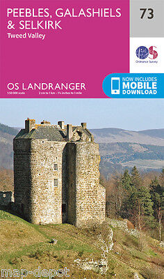 PEEBLES, GALASHIELS & SELKIRK LANDRANGER MAP 73 - Ordnance Survey - OS- NEW 2016