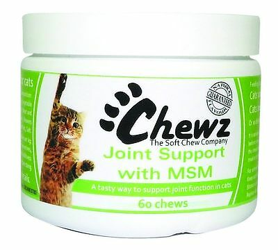 Chewz Joint Support With MSM For Cats x 60 Premium Service Fast Dispatch