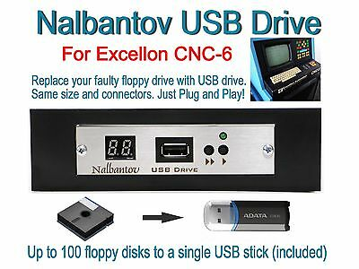 Nalbantov USB Floppy Disk Drive Emulator for Excellon CNC 6