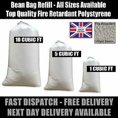 Bean Bag Refill FR Polystyrene Beans Filling Top Up Filler Booster
