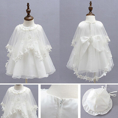 New Baby Toddler Girl Pageant Baptism Christening Wedding Formal Dress 0-15month