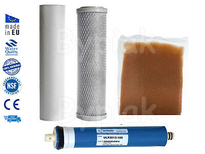New 4 Stage Reverse Osmosis RO & DI Resin Pre Filters Replacement + Membrane