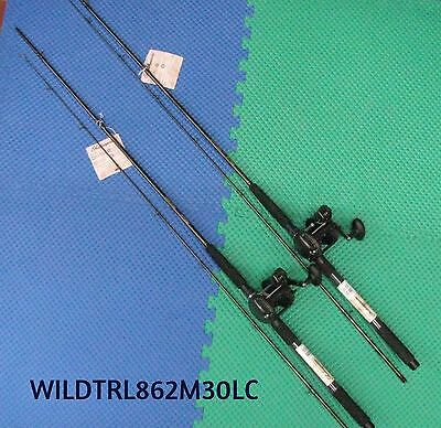 """Shakespeare Wild Series 8'6"""" Line Counter Trolling Combo 2 PACK #WILDTRL862M30LC"""