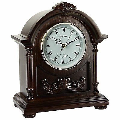 Classic Bedford Clock Collection Handcrafted Wooden Finish Mantel Clock Chimes