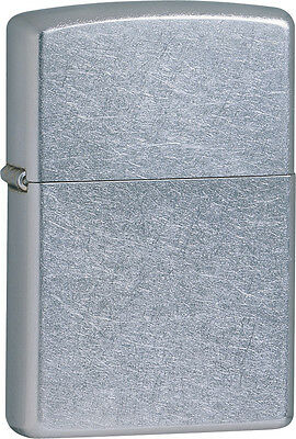 Zippo Lighter - Standard Size - Street Chrome Finish - New In The Box, Zo102074