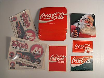 Assorted Coca Cola Collectibles  Coasters Stickers  Other...