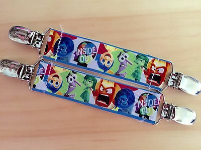 Disney Inside Out Inspired Mitten Clips-Gloves Holder- Winter-Fabric-Craft