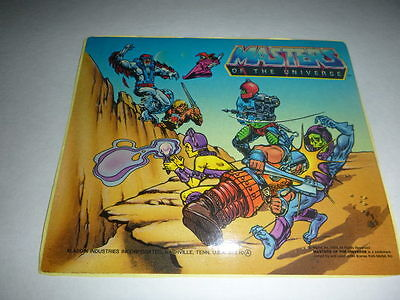 Rare 1985 Licensor Approved Signed Masters Of The Universe Lunch Box Artwork